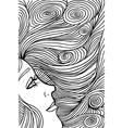 Abstract woman face vector