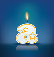 Candle letter a with flame vector