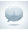 Chtistmas tree speech bubbles vector