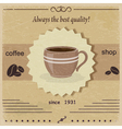 Vintage label coffee shop eps10 vector