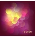 Bokeh lights vintage background vector