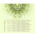2015 calendar horizontal row vector