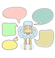 Sheep with speech bubbles vector