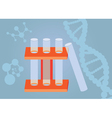 Three test tubes vector