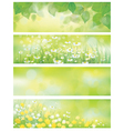 Spring floral banners vector