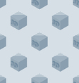 3d printer seamless pattern made with 3d cubes vector