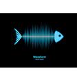 Sonar waveform fish vector