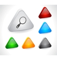 Color 3d buttons for web vector