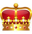 Realistic golden crown vector