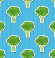 Broccoli pattern seamless texture vector