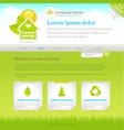 Green house web site design template vector