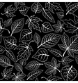 Seamless pattern with tree leaves vector