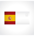Envelope with spanish flag card vector