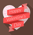 St valentines day card design in flat des vector