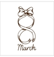 Eight 8 of march ribbon vector