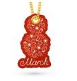 8 march flower element vector