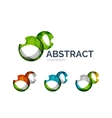 Abstract bubbles logo design made of color pieces vector
