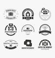Photography logos vector