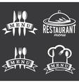 Restaurant and menu elements set vector
