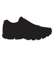 Running shoe - sneaker silhouette vector