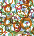 Bright round rainbow circles on white background vector