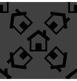 House web icon flat design seamless pattern vector