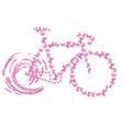 Bike pink butterfly vector