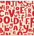 Seamless pattern with latin letters of different vector