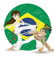 Brazilian martial art capoeira vector