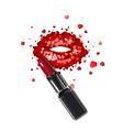Lips of hearts vector