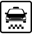Black taxi car vector