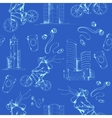 Blueprint city seamless pattern vector