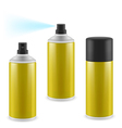 Golden spray cans vector