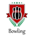 Bowling symbol for sporting deseign vector