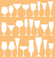 Set of wine glass icon vector