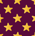 Cute seamless pattern tiling made of stars endless vector