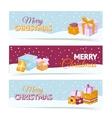Christmas gift box banners vector
