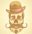 Hat mustache scull vector