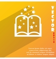 Magic book icon symbol flat modern web design with vector