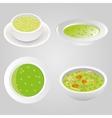 Pea soup collection vector