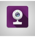 Webcam of white plastic vector