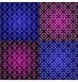 Set filigree damask seamless patterns vector