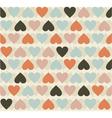 Retro heart pattern vector