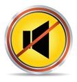 3d glossy speaker web icon design element vector