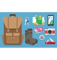 Icons set travel vector