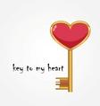 Golden key opens the heart vector