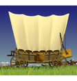 Wild west covered wagon vector
