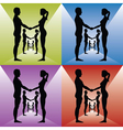 Holding by hands vector