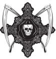 Skull in cross vector
