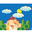 Stylized fairy tale castle vector